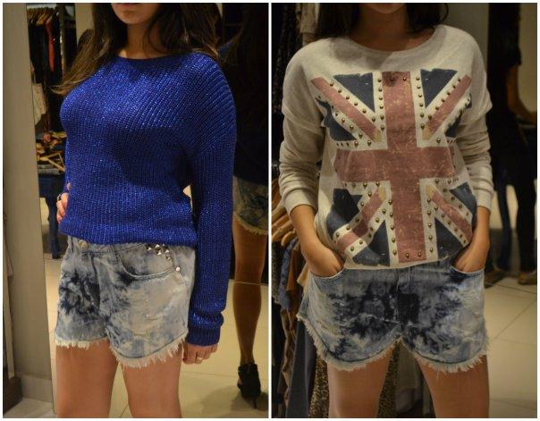 Peça que você pode encontrar em nossa loja. Dois looks com o mesmo jeans.