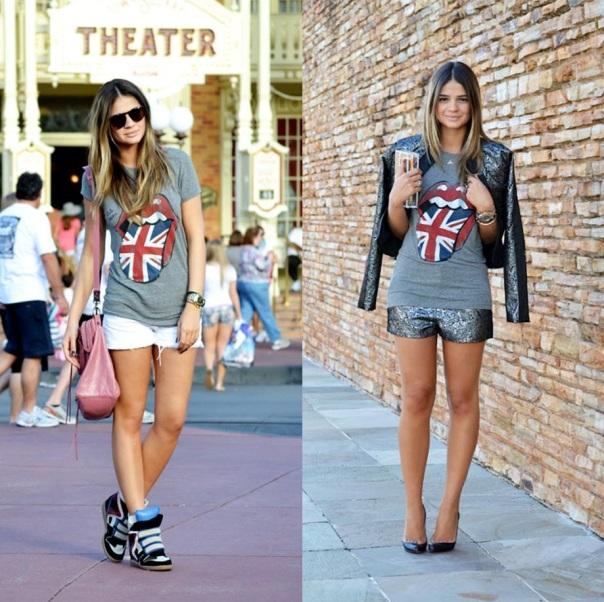 Look casual ou chique, com a mesma t-shirt!
