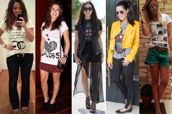 T-shirt+calça flare, saia curta, saia longa, calça e short, pode tudo!