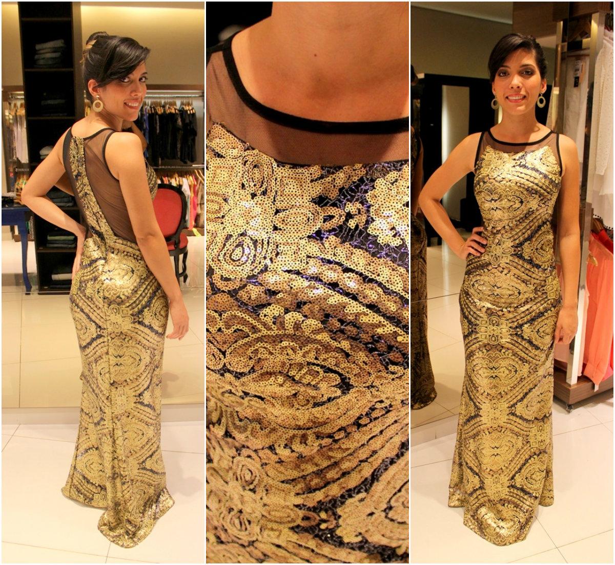 vestido de formatura brilhante